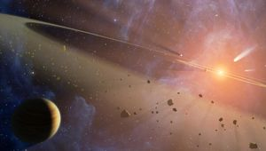 NASA image of asteroids