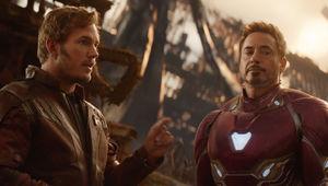 Avengers: Infinity War- Peter Quill and Tony Stark (Chris Pratt and Robert Downey Jr)