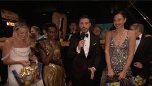 Jimmy Kimmel, Lupita, Gal Gadot, Oscars