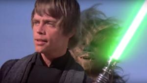 Star Wars- Luke Skywalker (Mark Hamill) with green lightsaber from Return of the Jedi