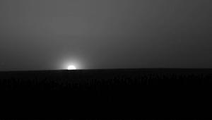 NASA image of a sunrise on Mars