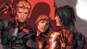 Marvel Comics- Black Widow, Hawkeye, and Bucky Barnes