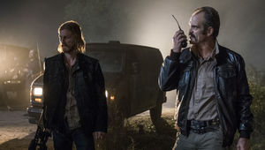 The Walking Dead episode 813 - Dwight and Simon prepare to fight