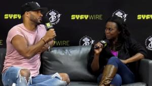 Ricky Whittle and Yetide Badaki