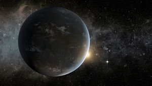 NASA image of a super-Earth exoplanet