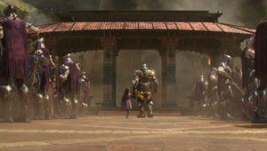 Avengers: Infinity War, Thanos and Gamora