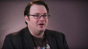Brandon Sanderson video interview SYFY WIRE screengrab