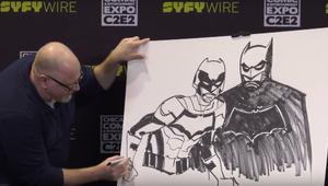Cully Hamner Batman And The Signal Sketch SYFY WIRE C2E2 Screengrab