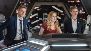 Legends of Tomorrow Rip Hunter, Sara Lance, Ava Sharpe