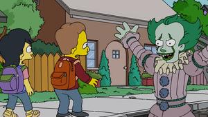 Simpsons parody of Stephen King's IT with Pennywise