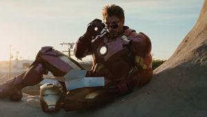 Iron Man 2- Tony Stark (Robert Downey Jr) in the donut