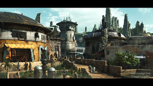 Star Wars: Galaxy's Edge Concept Art- Black Spire Outpost 1