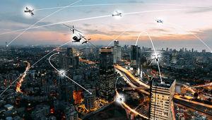 NASA image of air taxis