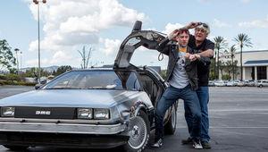 Jay Leno Chris Hardwick DeLorean.JPG