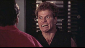 Ralph Macchio and Martin Kove in The Karate Kid Part III