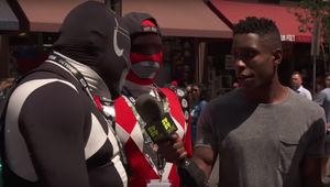 Power Rangers Fans on the Street