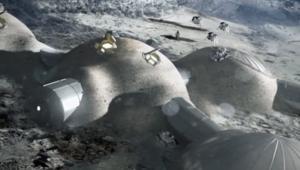 ESA image of moon habitats