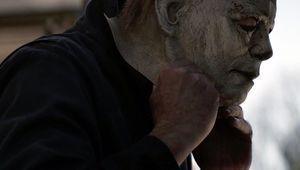 Halloween 2018 Michael donning mask hero