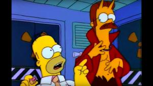 Homer Simpson Ned Flanders devil