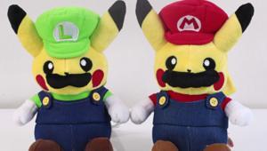 Mario Luigi Pikachu dolls