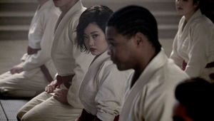 "DEADLY CLASS -- ""Reagan Youth"" Episode 100 -- Pictured: Lana Condor as Saya"
