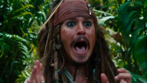 Johnny Depp Captain Jack Sparrow Pirates of the Caribbean on Stranger Tides