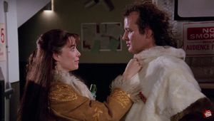 Karen Allen and Bill Murray in Scrooged