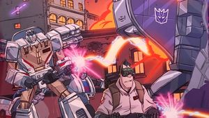 transformers ghostbusters comic cover clean