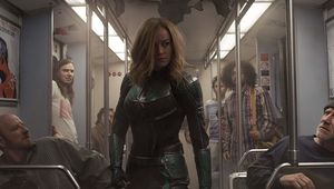 Captain Marvel Carol on train