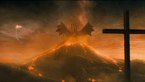 Godzilla King of the Monsters Ghidorah on a Mountain