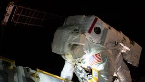 NASA astronaut Anne McClain on a spacewalk