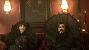 Nadja and Laszlo in What We Do in the Shadows