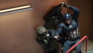 Captain America Civil War staircase fight