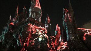 Universal Studios Dark Arts at Hogwarts Castle light show
