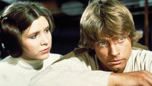 Luke and Leia in Star Wars Episode IV: A New Hope