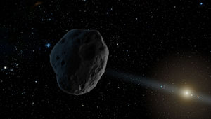 Artwork of a distant asteroid on its way in toward the inner solar system. Credit: NASA/JPL-Caltech