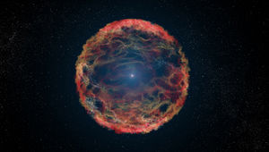 An artist's depiction of a supernova event. Credit: NASA/ESA/G. Bacon (STSci)