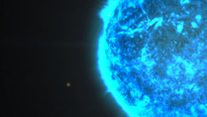 Artwork of a blue star in space. Credit: NASA's Goddard Space Flight Center/S. Wiessinger