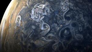 High-latitude clouds swirl and rage in this image taken from 19,000 km above Jupiter's northern latitudes. Credit: NASA / SwRI / MSSS / Gerald Eichstädt / Seán Doran