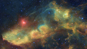 IC 4592, the Blue Horsehead Nebula, in infrared using images from the WISE observatory. Credit: NASA/JPL-Caltech/UCLA / Robert Gendler / Judy Schmidt