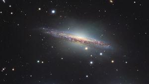 The stunning nearly edge-on spiral galaxy NGC 1055. Credit: Robert Gendler / Roberto Colombari/ NAOJ / ESO