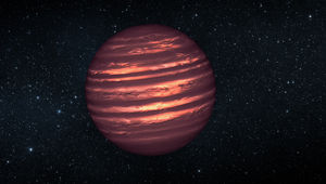 Artist drawing of a solitary brown dwarf in space, glowing feebly in visible light. Credit: NASA/JPL-Caltech