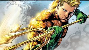 Aquaman #1 (2011) written by Geoff Johns, illustrated by Ivan Reis.