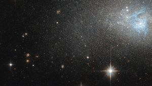 The dwarf galaxy IC 4870 is lovely in this Hubble image, but more information about it is scarce. Credit: ESA/Hubble & NASA