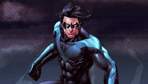 nightwing on a building