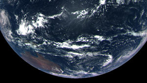 Earth, from 170,000 km away. Credit: NASA/Goddard Space Flight Center/University of Arizona
