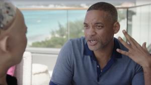 Will Smith and Sophia the robot