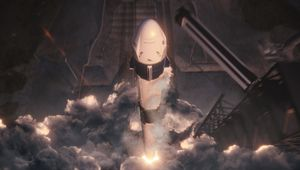Artwork of the Crew Dragon capsule launching into space. Credit: SpaceX