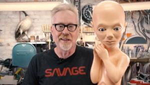 Adam Savage with Starchild replica