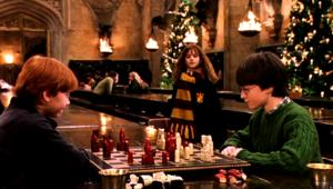 Harry Potter and the Sorcerer's Stone, great hall, Christmas